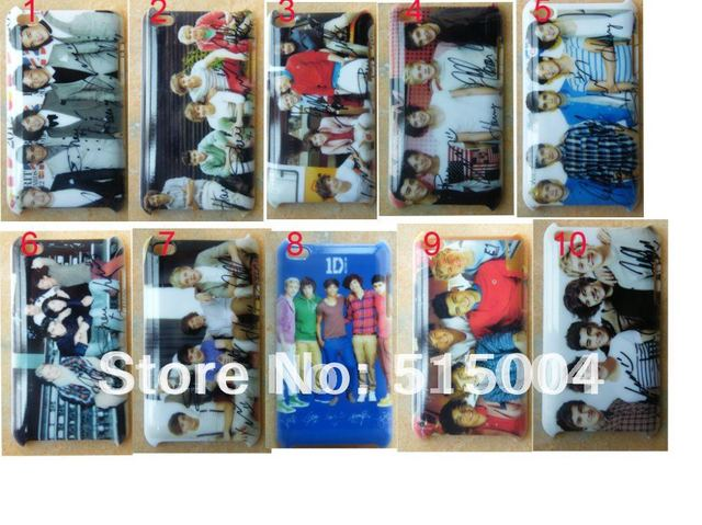 whloesale!NEW One Direction  ID Case Back Cover For Ipod Touch 4 4th 40pcs/lot+free Shipping