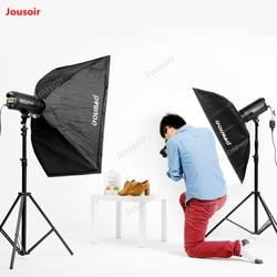 Double Flash set SoftBox lamp holder 400W flash kit Photography single Light two flashlight pack Studio Lighting suit CD50 T10