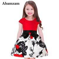 Moda Dziewczynka Boże Narodzenie Sukienka dla Dzieci New Rose Drukuj Bow Belt Partii i Wesele Tutu Sukienki Maluch Odzież Navidad