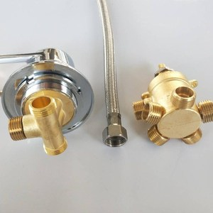Image 4 - MTTUZK wall mounted 2/3/4/5 Ways water outlet brass shower tap screw or intubation split shower cabin shower room mixing valve