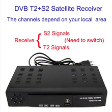2018 Full HD 1080P T2+S2 Video Broadcasting Satellite Receiver Box TV HDTV Composite Digital High-definition Receiver EU/UK plug