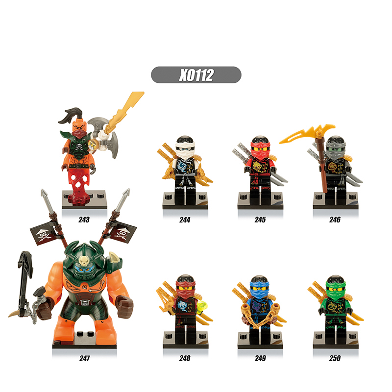 Building Blocks Ninjago Mini Figures Kai Jay Cole Zane Nya Lloyd Nada Toys for children ninjago legoing ninja movie star wars nada barbara