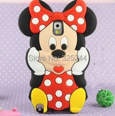 Lovely Cute 3D mickey mouse Minnie Soft Silicone Case Cover Skin Samsung Galaxy Note 3 III+Tracking NO. - Sunshine Trade (Shenzhen store Co.,LTD)
