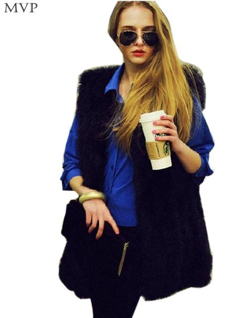 Fanala mulheres colete de pele casaco de inverno mulheres colete de alta imitação Fox Colete De Pele Colete Outerwear Casaco De Pele Colete Sobretudo Veste Femme