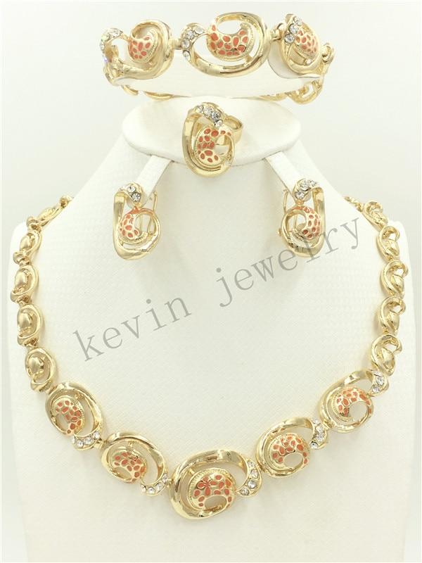 Online Shop Fashion African Nigeria Dubai Jewelry Wedding gold ...
