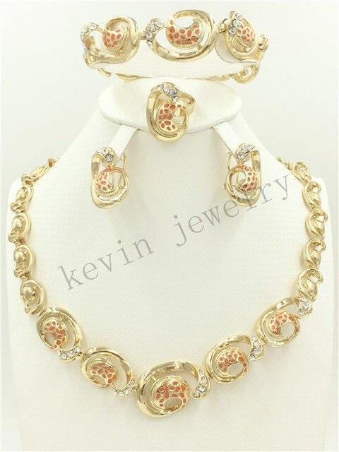 Fashion African Nigeria Dubai Jewelry Wedding gold color Bridal