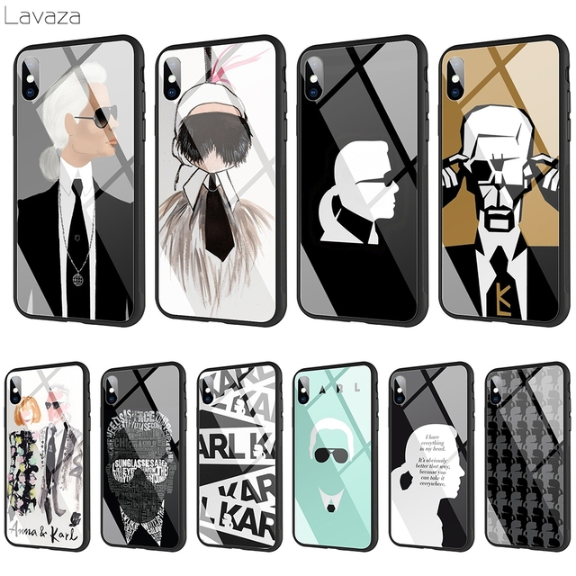 newest c5152 4502f US $4.99 28% OFF|Lavaza karl lagerfeld Tempered glass TPU Case for iPhone  XS MAX XR X 8 7 6 6S Plus-in Fitted Cases from Cellphones & ...