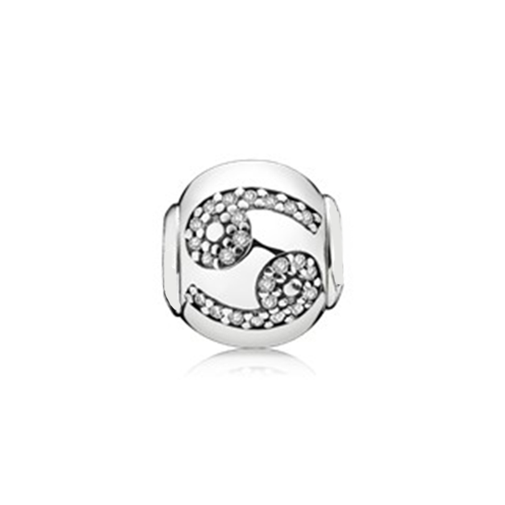 429df39407df4 US $12.56 10% OFF|PANDOCCI 100% 925 Sterling Silver 1:1 796037CZ CANCER  COLLECTION in silver with cubic zirconia E Series Bead Vintage Original -in  ...