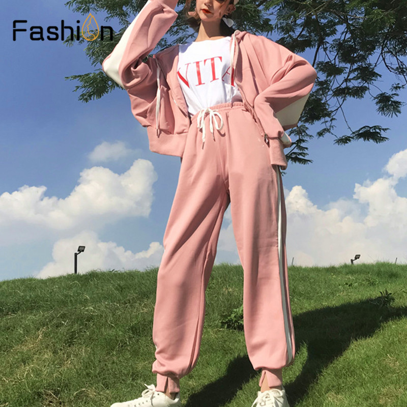 Women Hooded and Long Pants Sets Full Sleeve Tracksuit Sexy Spring Autumn Ladies Outfit Two Piece Set Sportswear Sweat Suit 1