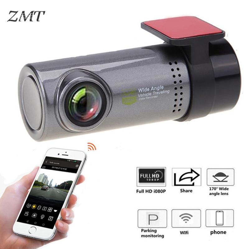 Escondida DVR Carro Traço Câmera 1080P Drive Gravador de WI-FI HD USB HDMI Monitoramento Automóvel Carro Escondido Câmera de Segurança F0543