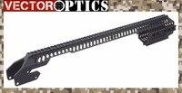 Вектор Оптика Тактический пушка Handguard Quad Rail для 12 калибра Ремингтон 870 RM870 R870/R1100 полной длины матовый черный