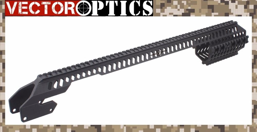 Vector Optics Tactical Shotgun Handguard Quad Rail for 12 Gauge Remington 870 RM870 R870 / R1100 Full Length Matte Black ak 47 tactical quad rail picatinny handguard system cnc aluminum full length tactical for ak rifles 26cm hunting gun accessories
