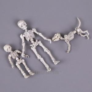 Image 2 - Leuke Mode Ontwerp Mr Botten Pose Skelet Model met Hond Tafel Bureau Boek mini PVC Figuur kinderen Speelgoed Collectible Gift
