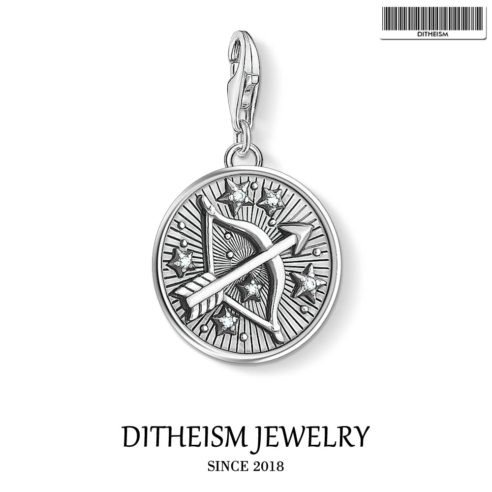 Zodiac Sign Sagittarius Charms Pendant,2019 Thomas Summer Jewelry 925 Sterling Silver Classic Gift For Women Men Fit Bracelet
