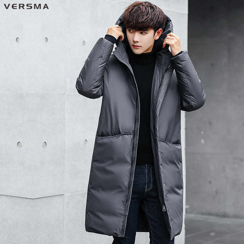 323dcbd17be VERSMA New Russia Winter Hooded White Duck Down Jacket Parka Men Coat Thick  Mens Warm Jaqueta