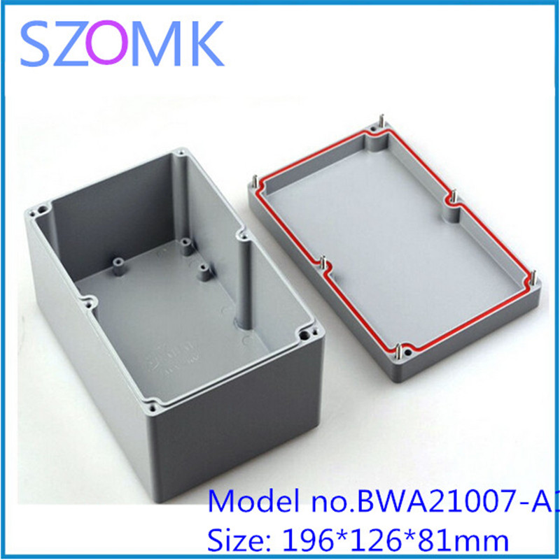 2 pcs, electronics enclosure control box waterproof junction housing 155*103*61mm aluminum enclosure for pcb electric box
