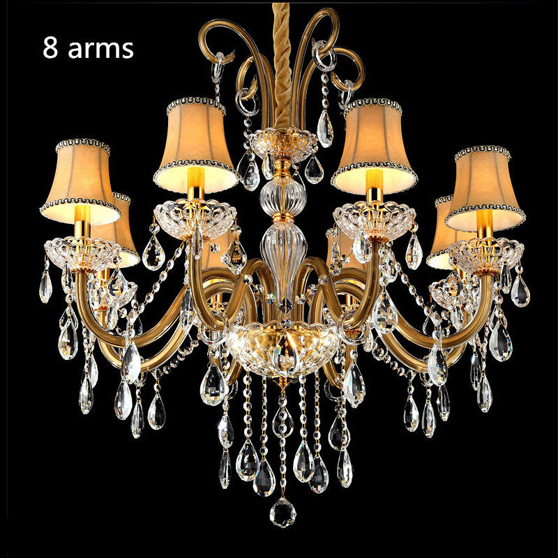 US $102.0 15% OFF|modern chandeliers china small chandelier for bedroom Art  Lamp Creative crystal chandelier with lampshade contemporary Crystal-in ...