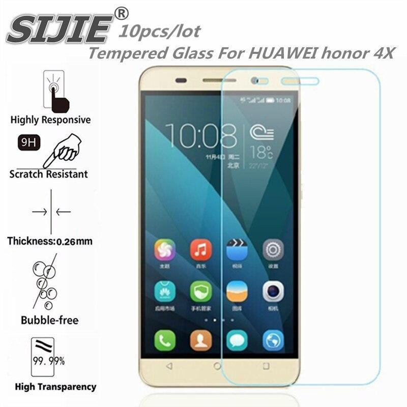 10 PCS tela de Vidro Temperado Para HUAWEI honor 4X CHE-TL00 Che2 tampa do smartphone protetora caso temperado 9 H em cristais fina