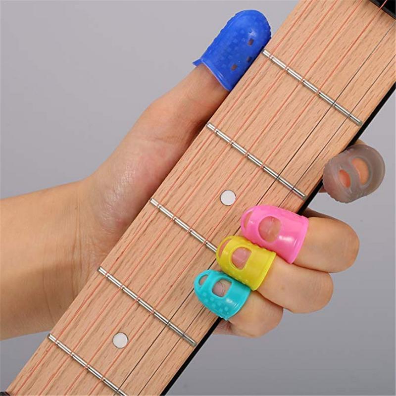hot kit silicone fingertip protectors guitar finger accessories full size guitar finger pick. Black Bedroom Furniture Sets. Home Design Ideas
