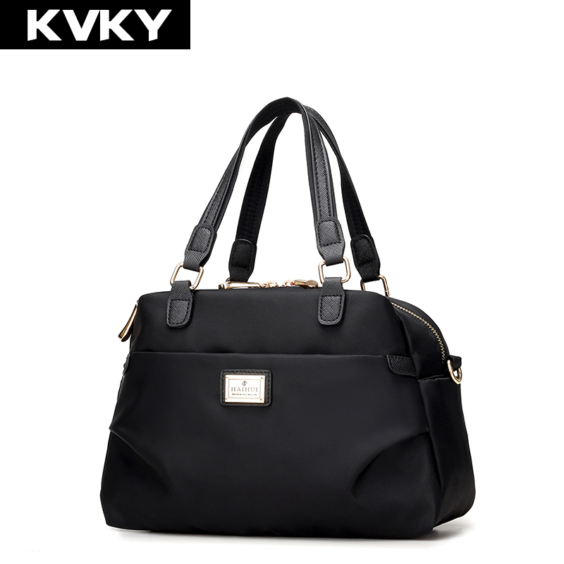 KVKY Women Boston bag Waterproof Nylon Handbags Ladies Messenger Bags Casual Women Crossbody Bag Travel Shoulder Bag Tote bolsas hot shoulder bag casual bag nylon waterproof women bolsa messenger bag travel bags kiple style high capacity handbags