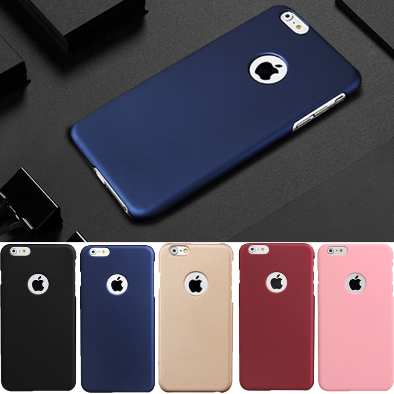 Luxury Matte Rubber Hard Slim PC Frosted Phone Cases For iphone 6 6s 7 plus iphone7 Cover coque fundas capinhas + Tempered Glass
