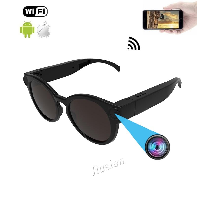 Смарт очки WiFi камера для IOS Android Full HD 1080 P, мини портативные спортивные солнцезащитные очки камера, микро видео регистратор видеокамера