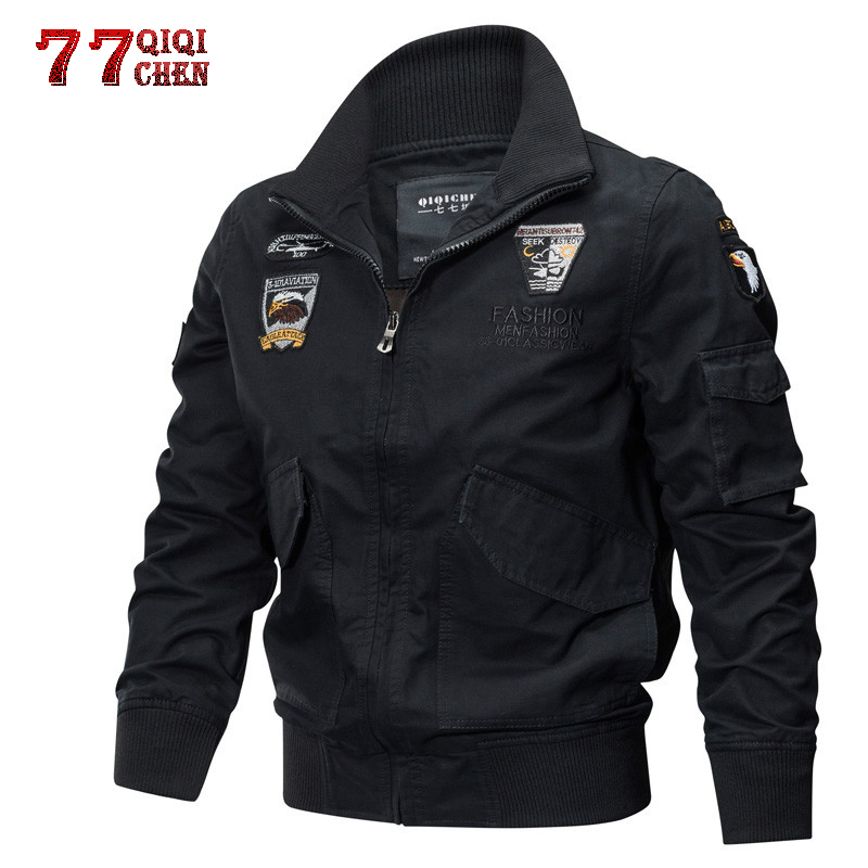 Military Jacket Men Autumn Winter Bomber Jacket Plus Size 4XL Cotton Pilot Tactical Air Force Cargo Jackets Jaqueta Masculina