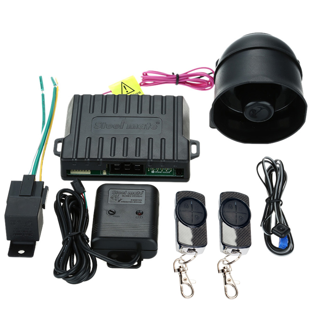 medium resolution of steelmate 838n 1 way car alarm system central locking system window closer anti hijacking remote trunk release with transmitter in burglar alarm from