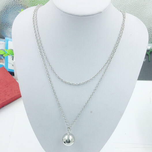 Simple Pregnancy Mom and Son Mex Bola Harmony Ball Necklace Jingle Ball Chiming Sound Ball Pendant Necklace(China)