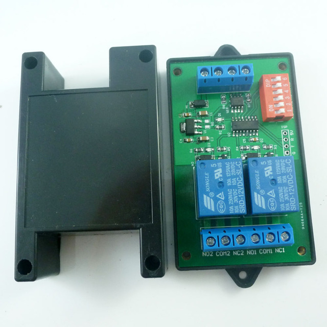 2CH RS485 Relay Switch Board Modbus POLL AT command PLC for PTZ