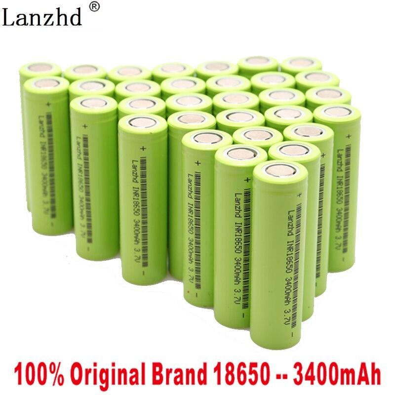 Новинка 2019 3,7 V 18650 батарея 3400mAh INR18650 30A разрядная литий ионная аккумуляторная батарея для инструментов фонарика и игрушек (10 40 шт) Перезаряжаемые батареи      АлиЭкспресс