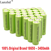 2019 NEW 3.7V 18650 Battery 3400mAh INR18650 30A Discharge Li ion Rechargeable Battery For Flashlight Tools and Toys(10 40PCS)