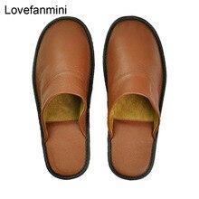 Genuino Della Mucca pantofole In Pelle coppia coperta non slip donne degli uomini di casa moda casual scarpe singolo PVC morbido suole primavera autunno 528