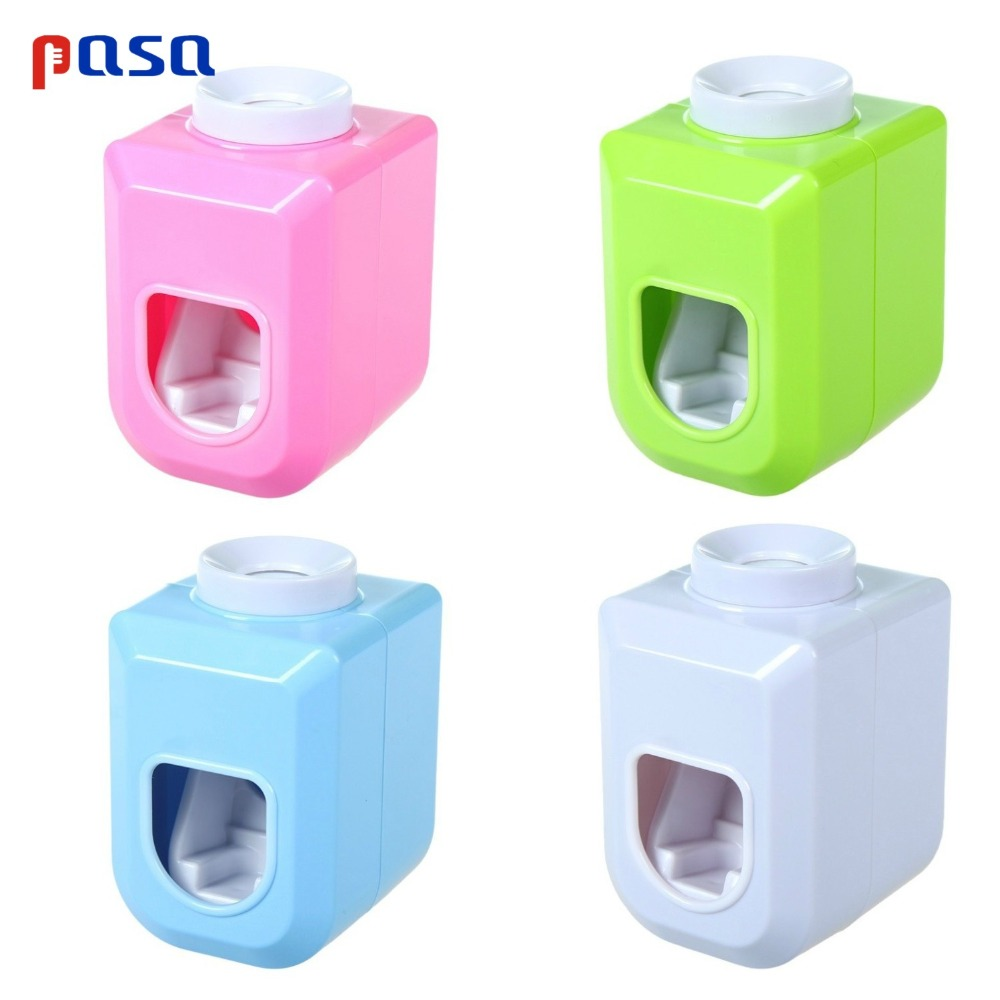 1Pc New Hands Free Automatic Squeezer Toothpaste Dispenser Squeeze Out Wall Mount Bathroom Accessories Toothbrush Bracket
