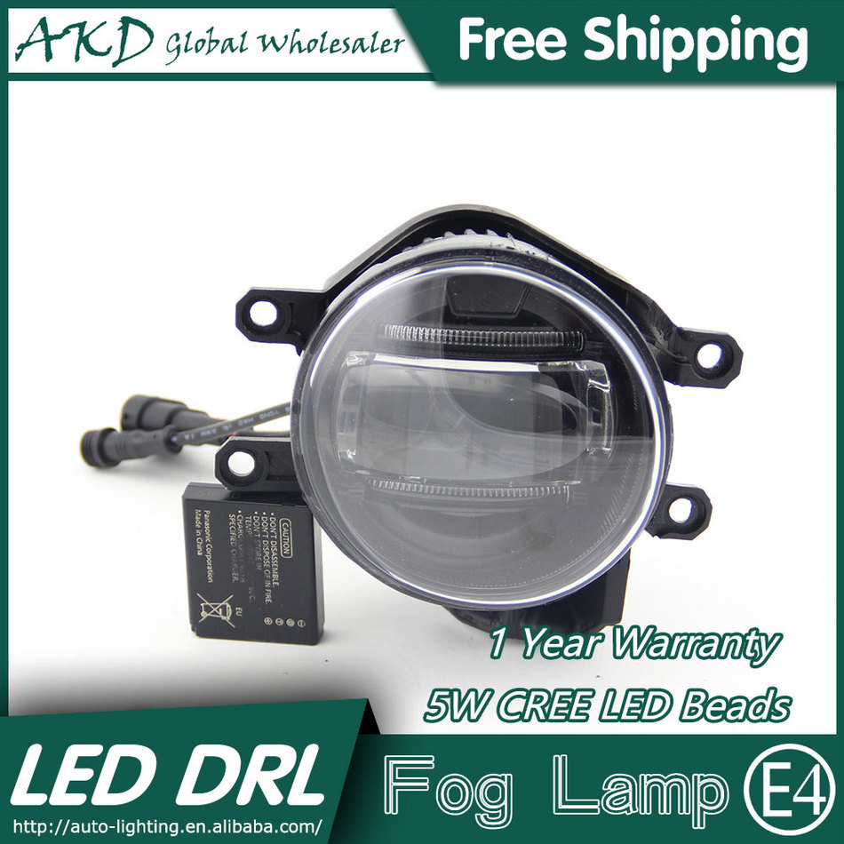 ФОТО AKD Car Styling LED Fog Lamp for Toyota Wish DRL 2009-2015 LED Daytime Running Light Fog Light Parking Signal Accessories