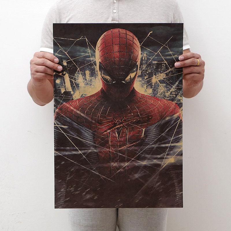 Mling 1 шт., 51,5x36 см, постер из серии Marvel, Мстители, война бесконечности, Ретро плакат, наклейки на стену для гостиной, украшение для дома - Цвет: H23