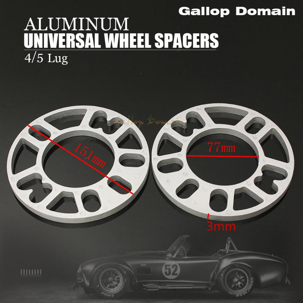 2PCS 3/5/8/10 MM ALLOY ALUMINUM WHEEL SPACERS SHIMS PLATE 4&5 STUD FIT FOR VW FREE SHIPPING Car-Styling