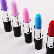 4 PCS/lot New Design Novelty Stationery Simulation Modeling Lipstick Ballpoint Pen School Supplies