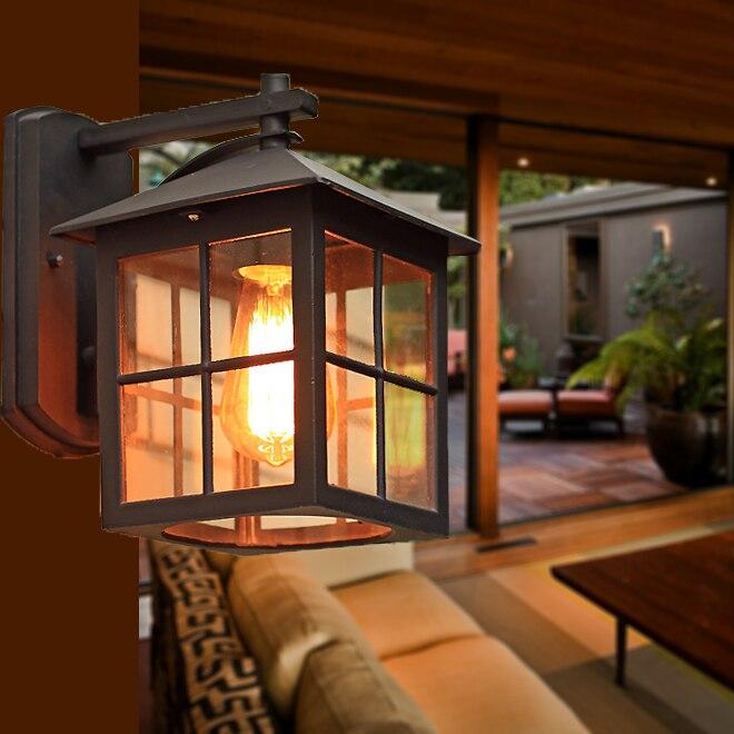 Здесь продается  Modern outdoor light wall lamps outdoor waterproof Villa Garden living room balcony retro storage wall lights za  Свет и освещение
