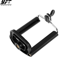 Aluminum Universal Cell Phone Stand Clip Bracket Tripod Holder Mount Bracket Adapters For iPhone for Sumsung