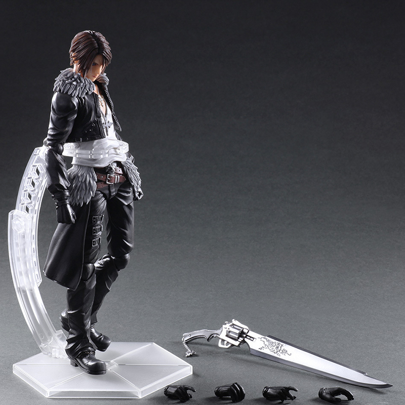 Play Arts Kai Final Fantasy VIII Squall Leonhart Variant Figure Varable Squall Gunblade PVC Action Figures Toy Brinquedos final fantasy play arts kai action figure 250mm cloud sephiroth squall pvc anime toy collection model figurine play arts kai