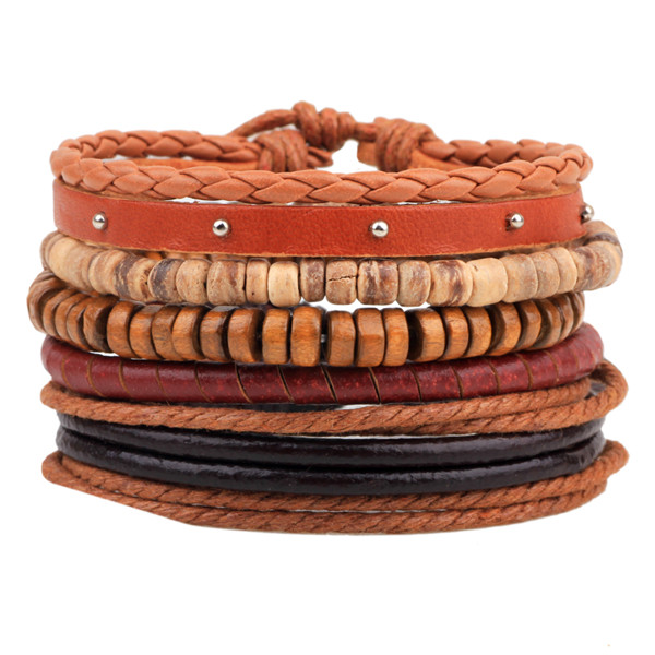 19-Styles-1-Set-Punk-Homme-Multi-Layer-Weave-Rope-Cuff-Braclet-Beads-Pu-Leather1