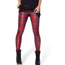 Hot selling Tartan Green or Red Leggings LIMITED women high elastic leggings free shipping