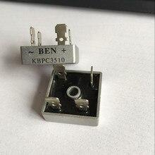 1 шт. однофазный выпрямитель мост KBPC3510 металлический чехол выпрямитель моста