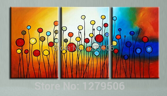 Wall Decor Paintings aliexpress : buy hand painted abstract art oil paintings on