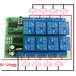 Image 5 - 1 PCS  8ch 12VDC DTMF Relay MT8870 Decoder Phone Remote Control switch for AC DC Motor LED CNC Smart Home PLC