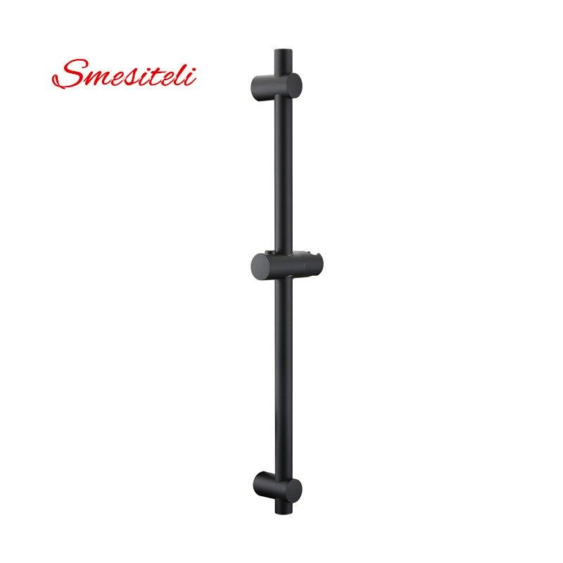 Smesiteli Wholesale Matte Black Finish Stainless Steel & ABS Plastic Sliding Bar Shower Bar & Shower Head Holder Bathroom Bar