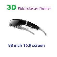Горячий продавать 98 дюйма виртуальный экран 16:9 lcd 3d virtual видео-очки, портативные частный театр