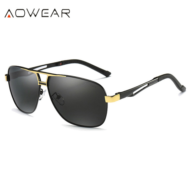 e460816e404 AOWEAR Luxury Brand Retro Sunglasses Men Polarized UV400 High Quality Driving  Fishing Sun Glasses 2017 Men Oculos Masculino A729