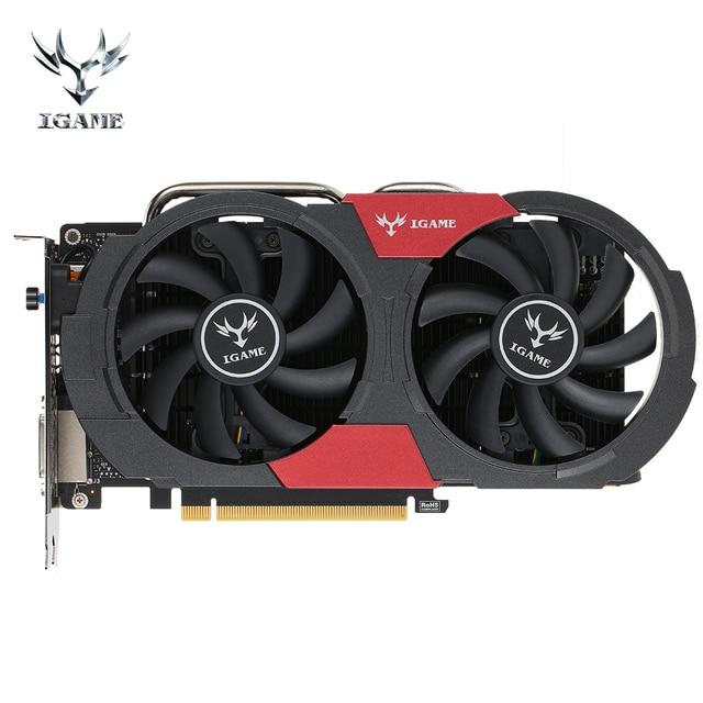 Colorido iGame GTX Placa Gráfica NVIDIA GeForce 1050Ti GTX1050Ti GPU 4 GB GDDR5 128bit PCI-E X16 3.0 Placa De Vídeo Jogos área de trabalho